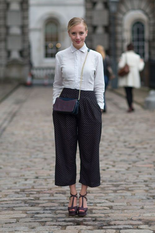 Culottes seen at London Fashion Week