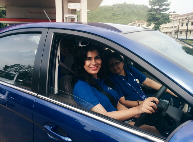 Drove the Tata Zest for 25 kms on the gorgeous Goa roads. What an experience.