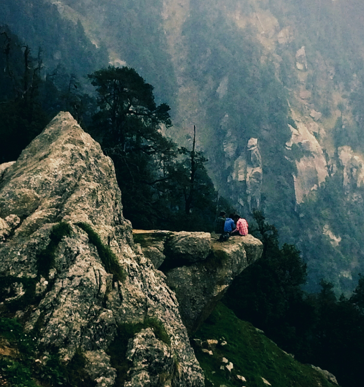 On the way to Triund