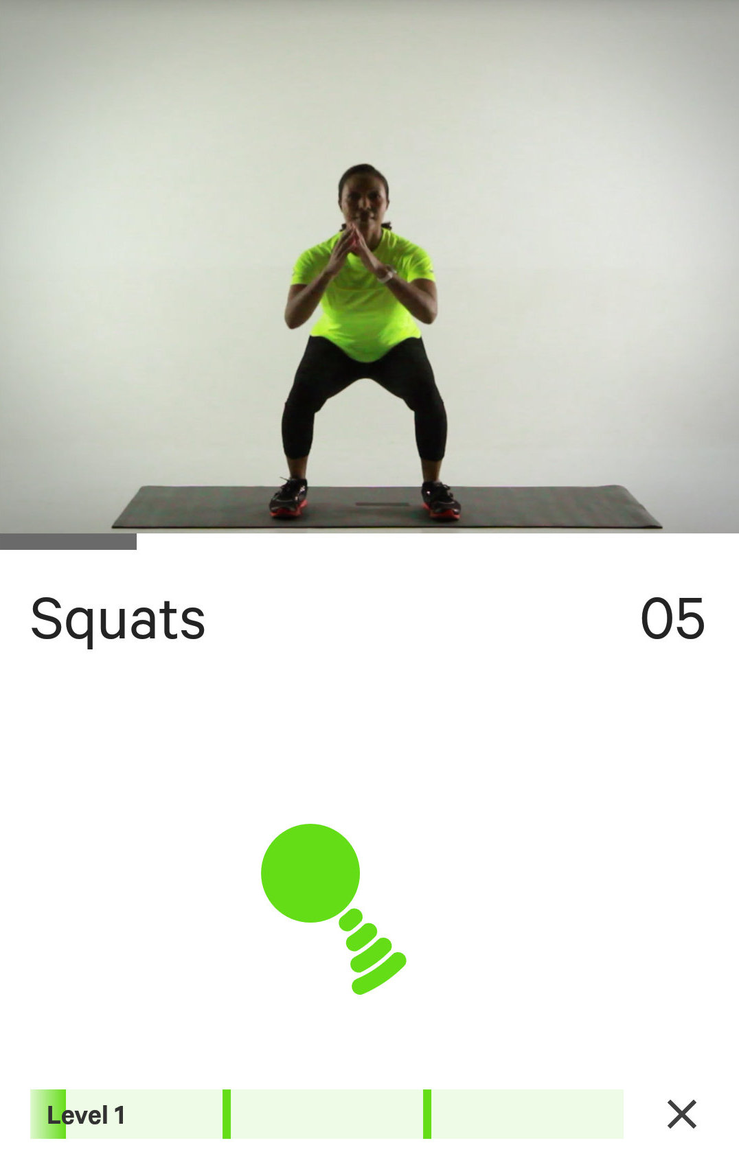 At home workout on the Moov Now Personal Coach and Sports Tracker