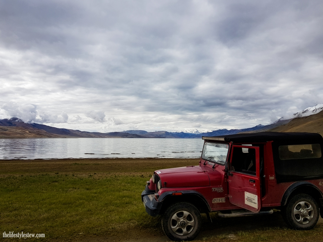 The rugged Thar taking a much deserved halt at Tso Moriri