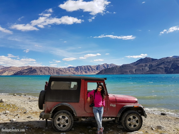 With the mighty Thar at Pangong Tso