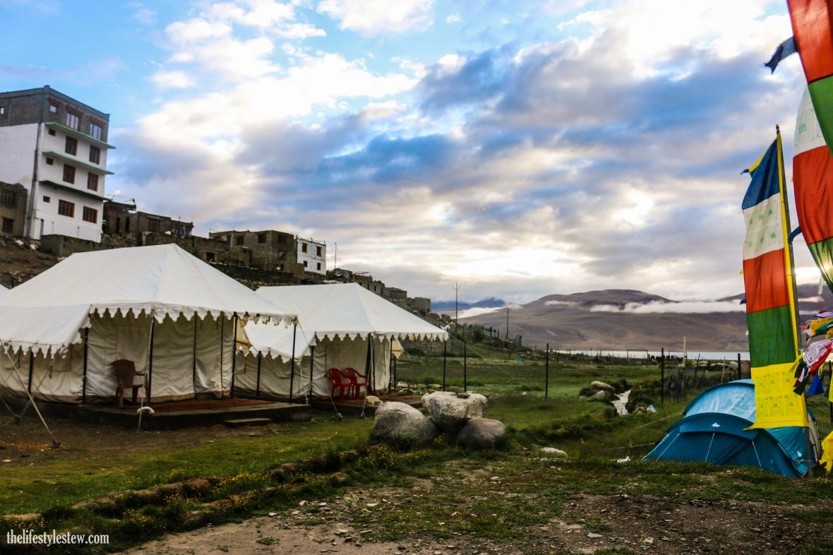 Our camp at Tso Moriri